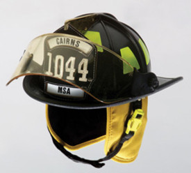 Cairns 1044 Traditional Helmet NFPA With 4